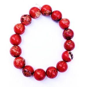 Dyed Red Howlite Bracelet